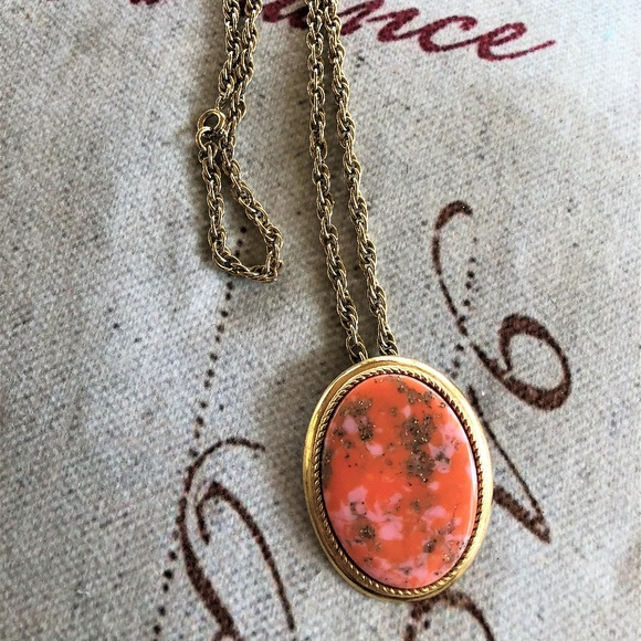 Vintage Sarah Coventry Jewelry Sarah Coventry Coraline Faux Coral Pinpendant Poshmark